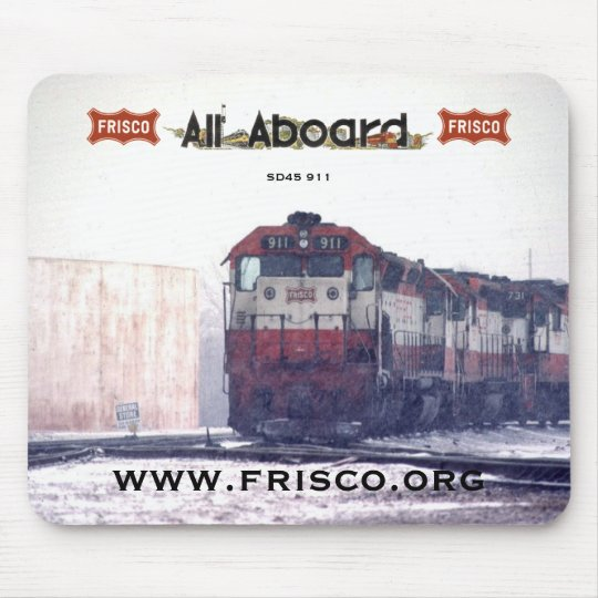 Frisco SD45 #911 with Frisco Coonskin on the nose Mouse Pad