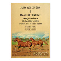 Frisco Texas Wedding Invitation Horses