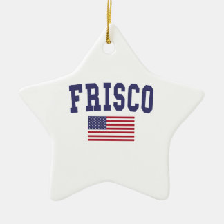 Frisco US Flag Ceramic Ornament