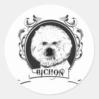 FRISE DE BICHON 3 PEGATINAS REDONDAS