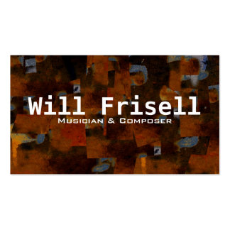 """""""Frisell"""" Double-Sided Standard Business Cards (Pack Of 100)"""