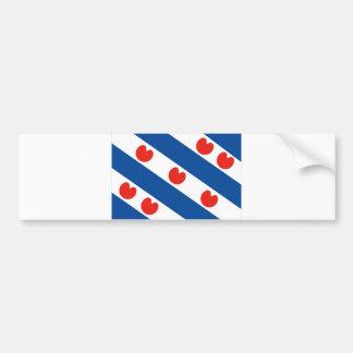 Frisia Friesland region flag netherlands country Bumper Sticker