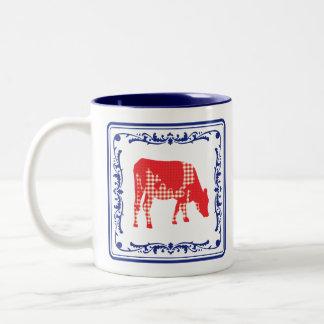 Frisian cow, Friese koe Two-Tone Coffee Mug
