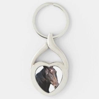Frisian stallion. keychain