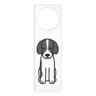 Frisian Water Dog Cartoon Door Hangers