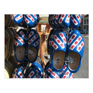 Frisian Wooden Shoes Clogs Photo Postcard