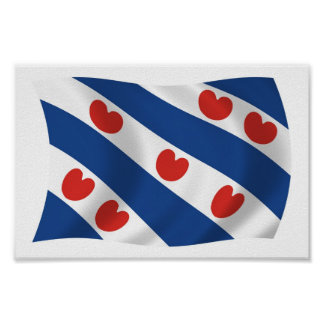 Frisians Flag Poster Print