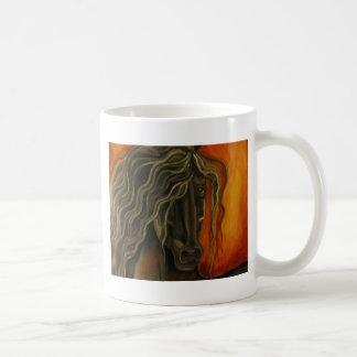 Frisio de la puesta del sol taza