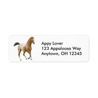 Frisky Appaloosa Horse Label