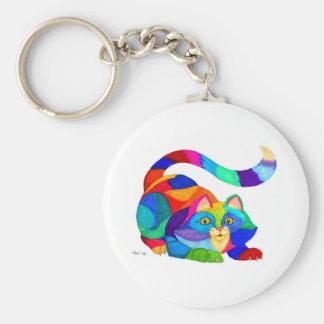 Frisky cat keychain