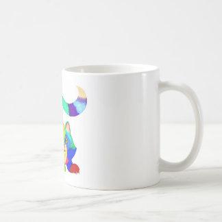 Frisky cat coffee mug