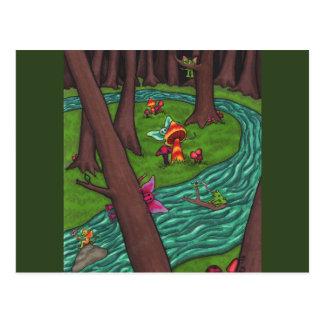 Frisky Fairy Forest Postcard