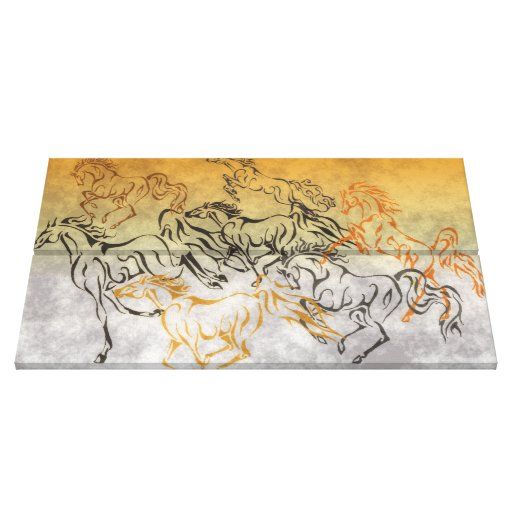 FRISKY HERD Wrapped Canvas Print