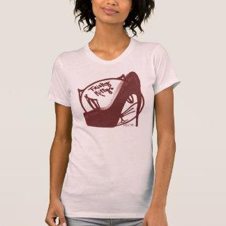 Frisky Kitty Deep Red T-Shirt