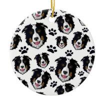 Frisky Scottish Border Collie Sheep Dog Pet Puppy Ceramic Ornament