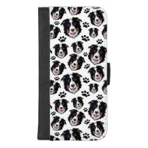 Frisky Scottish Border Collie Sheep Dog Pet Puppy iPhone 8/7 Plus Wallet Case