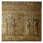 Friso de archers del guardia del rey persa, para azulejo