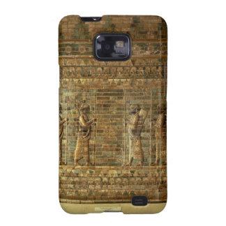 Friso de archers del guardia del rey persa, para samsung galaxy SII carcasas