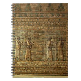 Friso de archers del guardia del rey persa para libreta