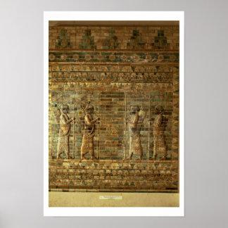 Friso de archers del guardia del rey persa, para impresiones