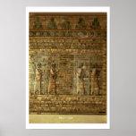 Friso de archers del guardia del rey persa, para póster
