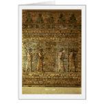 Friso de archers del guardia del rey persa, para tarjeta de felicitación