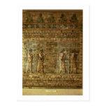 Friso de archers del guardia del rey persa, para postal