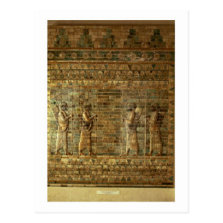 Friso de archers del guardia del rey persa, para tarjetas postales