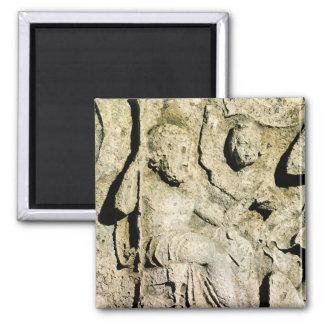 Friso que representa a rey Priam y Hecuba Imán Cuadrado