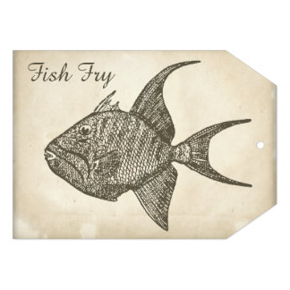 Fritada de pescado de papel antigua retra