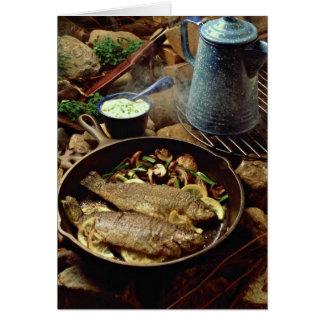 Fritada de pescado deliciosa felicitación