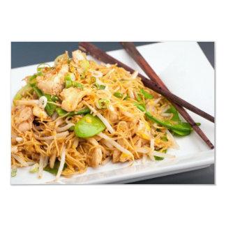 """Fritada tailandesa del Stir de los tallarines de Invitación 3.5"""" X 5"""""""