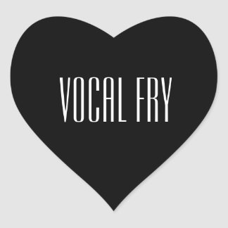 Fritada vocal pegatina en forma de corazón