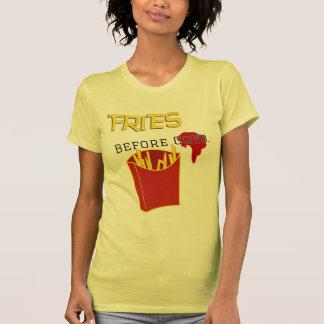 Fritadas antes de la camiseta de los individuos