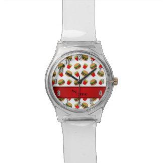 Fritadas blancas conocidas personalizadas de las relojes