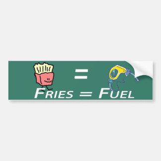 fritadas = combustible etiqueta de parachoque