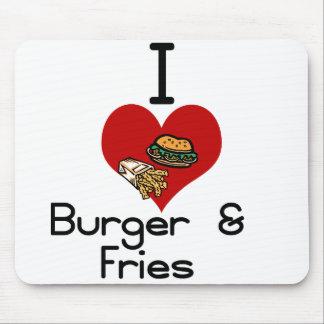 Fritadas de la hamburguesa del amor-corazón I Alfombrilla De Raton