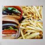 Fritadas de las hamburguesas n poster