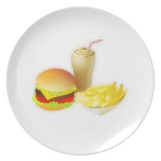 Fritadas del n de la hamburguesa plato