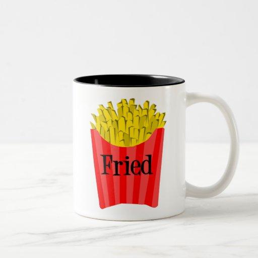 Fritadas fritas taza dos tonos