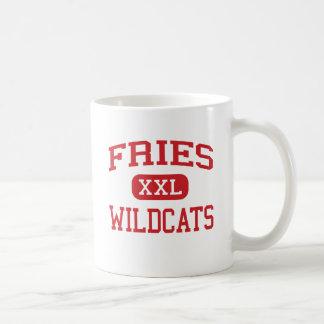 Fritadas - gatos monteses - escuela secundaria - f taza básica blanca