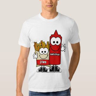 Fritadas y camisa de la salsa de tomate
