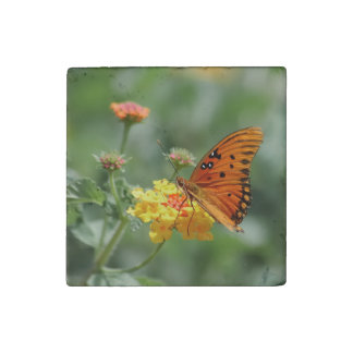 Fritilary Butterfly Stone Magnet
