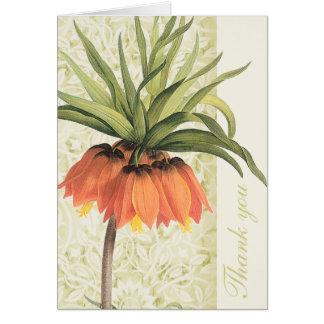 Fritillaria Floral Thank You Notes