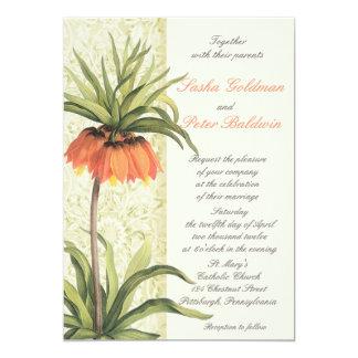 Fritillaria Floral Wedding Invitation