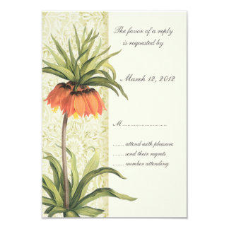 Fritillaria Floral Wedding Invitation RSVP 1
