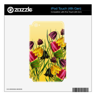 Fritillaria Flowers On Yellow iPod Touch 4G Decal