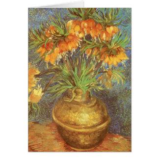Fritillaries en un florero de cobre de Vincent van Tarjeta De Felicitación