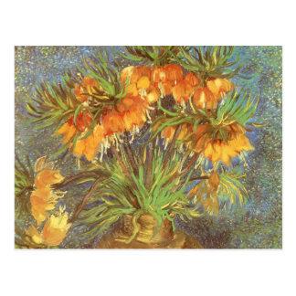 Fritillaries en un florero de cobre de Vincent van Tarjeta Postal