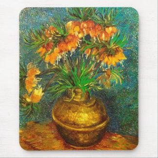 Fritillaries en una bella arte de cobre de Van Alfombrillas De Ratón